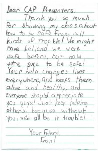 Letter from a child