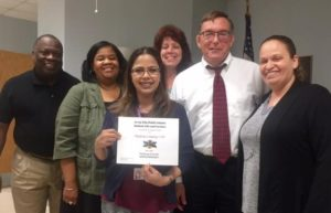 Recognition for Hudson County CAP from Jersey City School District